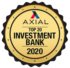 Axios Award for top 20 Investment Banks